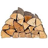 100kg (4x25kg) Brennholz & 100 Bioanzünder - Kaminholz 100% Buchenholz Feuerholz 25cm - kammergetrocknet, ofenfertig und einsatzbereit + 100 Stück Anzünder