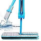 Mop Reinigungswerkzeuge Doppelseitige Nicht Hand Waschen Flache Mop Holzboden Mop Staub (Khaki)LETTER