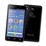 Switel eSmart M2 Smartphone, Dual SIM, LTE, SOS Notruftaste, lauter Klingelton, Hörgerätekompatibel, 3200mAh Akku, 12,7 cm 5 Zoll-Display