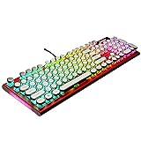 Snfgoij Mechanische Tastatur Metall Grüne Achse Retro Schreibmaschine Spiel Lol Golden Spiel Soft...
