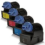 4x kompatible Tonerkartuschen für Canon Imagerunner C-2380i Imagerunner C-2880 i Imagerunner C-2880i Imagerunner C-2880 V2 Imagerunner C-3080 Imagerunner C-3380 C-EXV21 CEXV21 Schwarz Black Cyan Magenta Yellow - Sparpack - Eco Office Serie