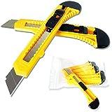 10 Stück Cuttermesser Teppichmesser Cutter Easy-click-System