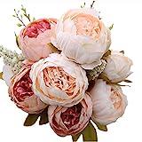 Luyue Schön Künstlich Blumen Pfingstrosen Künstliche Blume Blumenstrauß Für Hochzeit Party Fest Haus Büro Bar Dekor Rosa
