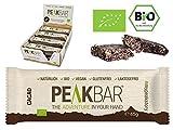 Energieriegel mit Kauerlebnis| Kakao | 12 Riegel á 65g | Bio Sportriegel | Vegan | Glutenfrei | Ohne Zucker | Reis Protein | Eiweis