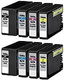 8 XL Druckerpatronen für Canon Maxify MB2000 Series, MB2050, MB2300 Series, MB2350 | kompatibel zu Canon PGI-1500XL