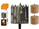 Fackel Gartenfackel Flammen 140 cm Feuerschale Metall + Stiel + 2 x Brennmittel 64090 F77