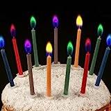 Geburtstagskerzen ANGEL FLAMES mit farbigen Flammen