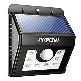 Mpow® Bewegungsmelder mit 8 LED-Leuchten, Wasserdicht, Solar-Leuchten, für Sicherheit im Außenbereich, Wandleuchte