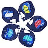 5x Etikettenband für Dymo LetraTag 12mm x 4m LT-Kunststoffband, Dymo S0721660, S0721670, S0721680,...