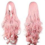 Perücke Pink Rosa ca. 90cm für VOCALOID Luka Cosplay oder Schaufensterpuppen Karneval oder Mottoparties