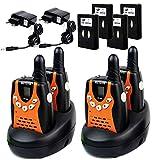Retevis RT-602 Walkie Talkie für Kinder UHF 8 Kanäle 3km mit LCD Display Akku aufladbar (2 Paar, Orange)