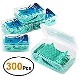 Zahnseide 300 Stk. Zahnseide Sticks Zahnstocher kunststoff Zahnpflege Dental Floss Zahnreiniger Sticks mit Griff - Zahnseidensticks - 60/Paket