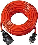 Brennenstuhl Bremaxx Verlängerungskabel (25 m Kabel, für Einsatz im Außenbereich IP44) rot