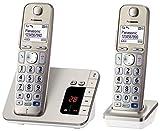 Panasonic KX-TGE222GN Großtastentelefon, hörgerätekompatibel, praktisches Seniorentelefon,...