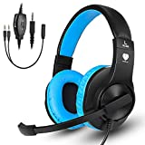 Gaming Headset, Weton Video Gaming Headset Gaming Kopfhörer mit Mikrofon 3,5 mm Wired Noise...