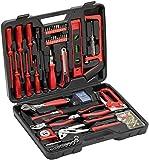 Meister Haushaltskoffer 60-teilig ✓ Werkzeug-Set ✓ Werkzeug für den täglichen Gebrauch | Werkzeugkoffer befüllt | Werkzeugset | Werkzeugbox komplett mit Werkzeug | Werkzeugsortiment | 8973630