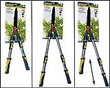 Gartenschere KINZO Heckenschere für Baum und Hecke max. Schneid-Ø: 8mm teleskop nichtrostend.