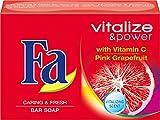 Fa Vitalize & Power Festseife, Vitamine C & Pinke Grapefruit, 3er Pack (3 x 100 g)