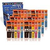 30x Druckerpatrone Komp. Für Canon PGI-550 XL CLI-551 XL für Canon Pixma MX-925 MX-725 IP-7250 MG-5650 MG-5550 IX-6850 IP-8750 MG-5450 MG-5600 MG-5655 MG-6350 MG-6450 MG-6650 MG-7100 MG-7150 MG-7500 MG-7550 MX-720 MX-920 Tintenpatronen Tinte Drucker