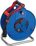 Brennenstuhl Garant IP44 Gewerbe-/Baustellen-Kabeltrommel (25m - Spezialkunststoff, Baustelleneinsatz und ständiger Einsatz im Außenbereich, Made In Germany) blau