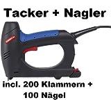 Powerplus POW737 Kombi Elektro Tacker Hefter für Klammern & Nägel 20 Stößen/Minute 230 Volt