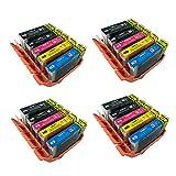 20Canon PGI5CLI-8Tintenpatronen für Canon Pixma iP4200iP4300iP4500iP5100iP5200iP5200R iP5300MP500MP530MP600MP600R MP610MP800MP800R MP810MP830MP950MP960MP9709000MX850, 5PCS PACK: PGI-5Schwarz, CLI-8Schwarz, CLI-8Cyan, cli8-magenta und cli8-yellow.