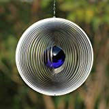 Windspiel EXCELLENT mit 50 mm Glaskugel - Farben nach Wunsch (Dunkelblau)