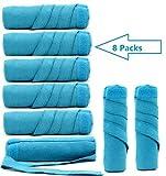 WPQES schlafen styling lockenwickler, 8 pcs nächtlichen lockenwickler, schwamm die rollen (blau L)