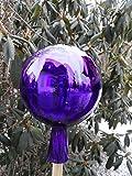 Arbrikadrex Spitzkugel farbechtes Glas Tropfenkugel Gartenkugel verspiegelt XXL Form Rosenkugel