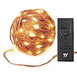 200 LEDs 20m Lichterkette TaoTronics Lichterketten mit RF Fernbedienung(20m/66Fuß Reichweite), Kupferdraht superweich, 8 Modi Warmweiß Sterne Lichter für drinnen und draußen