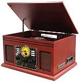 Hyundai® HY-107MC   Nostalgie Retro Kompaktanlage   Plattenspieler   Stereoanlage   Musikanlage   Kassette   Radio   CD-PLAYER   USB   FERNBEDIENUNG   SD   Aufnahmefunktion (Retro Plattenspieler)