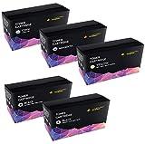 CRG718 5-er Pack Toner kompatibel für Canon I-Sensys MF-8330CDN, MF-8340CDN, MF-8350CDN, MF-8360CDN, MF-8380CDW, MF-8540CDN, MF-8550CDN, MF-8580CDW, LBP-7200, LBP-7200CDN, LBP-7210CDN, LBP-7680CX, LBP-7660CDN