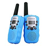 FLOUREON PMR Funkgerät Walkie Talkies 8 Kanäle Walki Talki Funkhandy Interphone mit LC-Display Blau