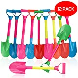 Bramble Set mit 12 Farbigen Kunststoff chaufeln - Strand Spaten - Ideal für Strand und Sandkasten Schaufel, Sandspielzeug