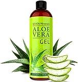 Aloe Vera GEL - 99% biologisch - 355 ml - KEIN XANTHAN, zieht schnell ein, keine Rückstände - Made in USA - ERGEBNISSE ERZIELEN ODER GELD ZURÜCK - Einzigartige Formel mit natürlichen ALGEN. Feuchtigkeitspflege für Gesicht, Haut und Haar
