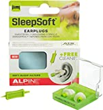 Alpine SleepSoft - Ohrstöpsel zum Schlafen & Dämpft Schnarch-Geräusche, Gratis Cleaner
