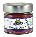 VITARAGNA Heidelbeer Fruchtextrakt 70, pur, Qualitätsprodukt mit Heidelbeer-Extrakt, Heidelbeer-Pulver auch Blaubeer-Fruchtpulver, vegan und ohne Zusätze