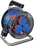 Brennenstuhl Garant Kompakt IP44 Kabeltrommel (15m - Spezialkunststoff, kurzfristiger Einsatz im Außenbereich, Made In Germany) schwarz