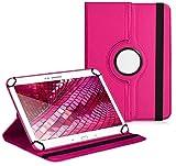 Premium Universal-Hülle für Tablet-PC Arnova 10d G3 10 ZOLL mit DREHFUNKTION und HALTER / STÄNDER-FUNKTION Schutz-Case Flip-Tasche Cover Pink