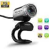 USB Webcam 1080P, ausdom 12,0 m HD Kamera Web Cam mit integriertem Mikrofon Wechselrahmen für...