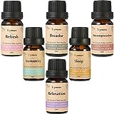 Skymore Top 6 Reine Ätherische Öle Set, 100% Pure Aroma Öle (Refresh, Sleep, Immunity, Relaxation, Decompression, Breathe), für Aromatherapie/Diffuser/Lufterfrischer Geeignet