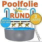 Poolfolie 3,60 x 0,90 m x 0,6 mm Schwimmbadfolie Innenhülle Auskleidung 3,6 m Ersatzfolie Pool 360 cm Ersatz Innenfolie rund Pools 0,90 m
