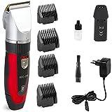 Ceramics RFC-208 elektrische Haarschneidemaschine mit Turbo-Sense-Technology und 4 Aufsätzen für 25 Schnittlängen drahtlos, wiederaufladbar, leise und geräuscharm Haartrimmer Gesichtshaartrimmer Haarschneider Rasierer