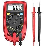 Etekcity MSR-R500 Digital Multimeter Voltmeter Spannungsmesser Spannungsprüfer Strommessgerät Amperemeter Gleichstrom Gleich-und Wechselspannung Widerstand Durchgang messen mit Batterie und 2 Messleitungen, Rot-Schwarz