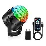 AOMEES Discokugel Party Disco Licht Musik Lichteffekt LED mit USB für Kinder Geburtstag Xmas...