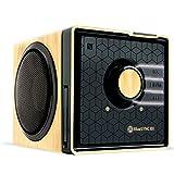 GOgroove Kabelloser Bluetooth Lautsprecher mit NFC und Freisprechfunktion im Holz-Design für...
