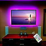 TV Hintergrundbeleuchtung USB LED Leisten für 50 Zoll Fernseher Flachbildschirm Wandhalterung Dekoration Smart LED Band Backlight Fernsehbeleuchtung