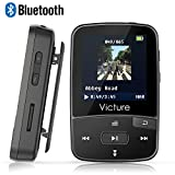 Victure Bluetooth MP3 Player 8GB Mini Sport Musik Player mit Clip, 30 Stunden Wiedergabe Musikplayer mit FM