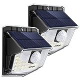 Mpow Solarleuchte mit Bewegungsmelder, Solarlampen für Außen 30 LED Solarlicht IP65 wasserdicht, 270 ° Weitwinkel Solar Wandleuchte 19,5% Sonnenkollektor für Garten, Garage, Weg, Pfad, Hof, Balkon