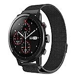 LCLrute Mode Hohe Qualität Neue Mode Magnetische Edelstahl Smartwatch Band Für Huami Amazfit 2 GPS...